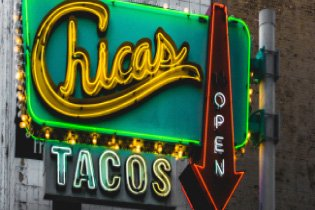 Chicas Tacos Neon Sign
